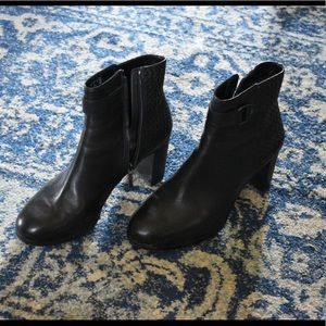 Almost new black leather booties.